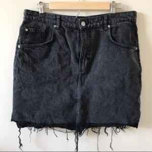 Cute, Black High Waisted Denim Skirt - 14